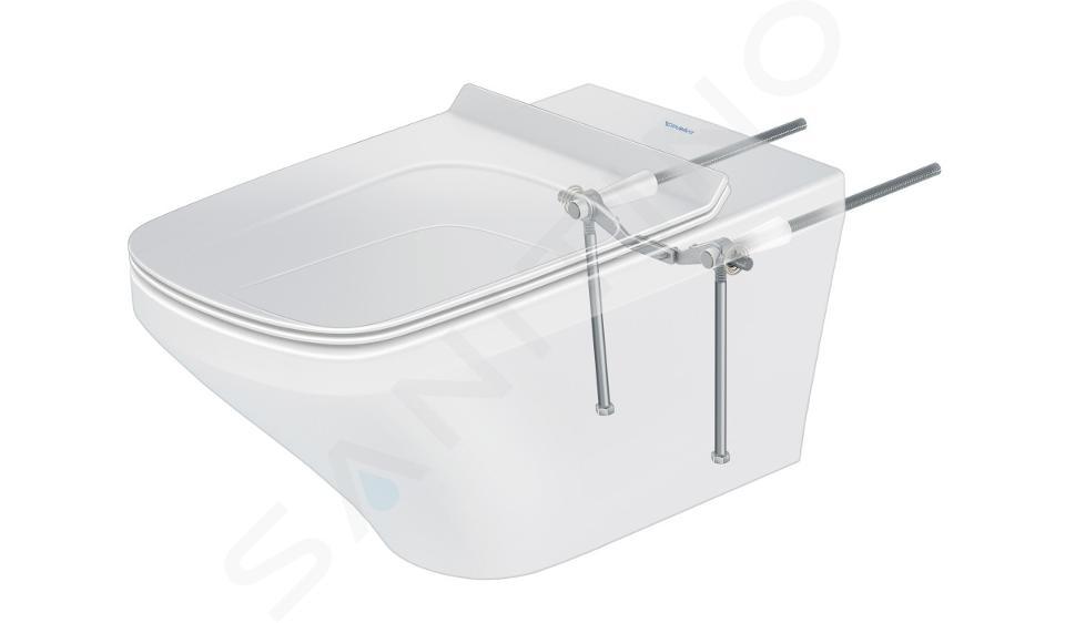 Duravit DuraStyle - Závěsné WC pro SensoWash, Rimless, s HygieneGlaze, alpská bílá 2542592000