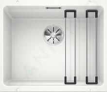Blanco Etagon 500 - Silgranitový dřez, 530x460 mm, s pojezdy, bílá 522231IIJ1