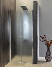 Aqualine Sprchovacie kúty - Sprchové dvere Pilot, dvojdielne 1000 mm, lesklý hliník/sklo Brick PT102