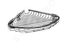 Sanela Doplnky z nehrdzavejúcej ocele - Nerezová rohová polička, lesklá nerezová SLZD 25