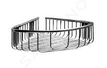 Sanela Doplnky z nehrdzavejúcej ocele - Nerezová rohová polička, lesklá nerezová SLZD 26