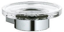 Keuco Plan - Zeepschaal met houder, helder glas/chroom 14955019000