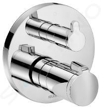 Keuco Elegance - Unterputz-Thermostat-Armatur, Absperr- und Umstellventil, Chrom 51674010181