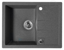 Sapho Dřezy - Granitový dřez, 650x500 mm, černá GR6504