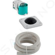 Geberit Systèmes de chasse d'eau - Commande pneumatique du rinçage, au sol, acier inoxydable 115.939.00.1