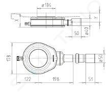Kaldewei Příslušenství - Odtoková souprava KA 90 Flat pro sprchové vaničky, extra plochá, chrom 687772540999