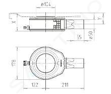 Kaldewei Příslušenství - Odtoková souprava KA 90 pro sprchové vaničky, vodorovná, chrom 687772560999