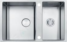 Franke Box Center - Lavello BWX 120-41-27, 820x520 mm, acciaio inox 122.0579.553