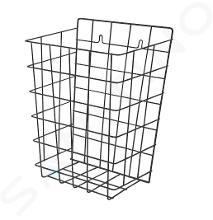 Sanela Draad prullenbak - Prullenmand, 360x290x180 mm, staal/zwart SLZN 40V