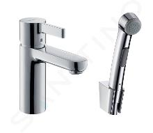 Hansgrohe Metris S - Miscelatore per lavabo con doccetta bidet a mano, cromato 31160000