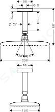 Hansgrohe Raindance - Kopfbrause S 240 Air 1jet, Deckenauslass 100 mm, verchromt 27477000