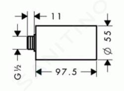 Hansgrohe Aktiva - Prodloužení 100 mm, chrom 27439000