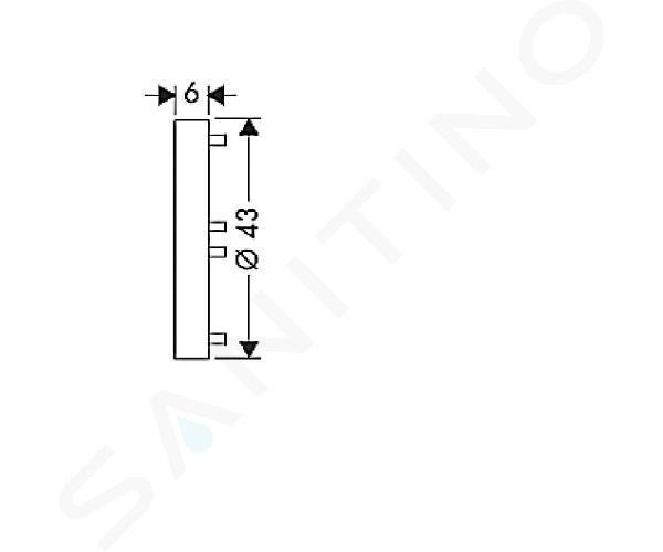 Hansgrohe Príslušenstvo - Podložka na vyrovnanie obkladov na nástennú tyč Unica'S, svetlosivá 96184000