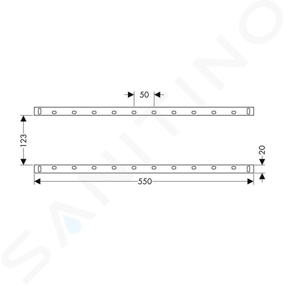 Hansgrohe Accessoires - Set de rails de montage pour iBox universal 96615000
