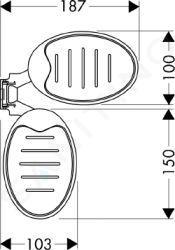 Hansgrohe Raindance - Cassetta, miska na mýdlo, chrom 28698000