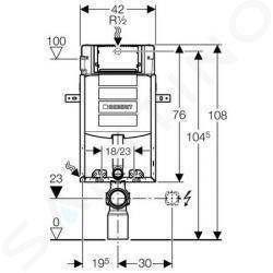 Geberit Kombifix - KOMBIFIX ECO PLUS pro závěsné WC včetně ovládacího tlačítka SAMBA bílé 110.314.11.5