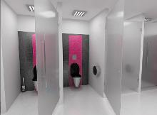 Sanela WC en inox - Cuvette de toilette suspendue, anti-vandalisme, inox SLWN 04