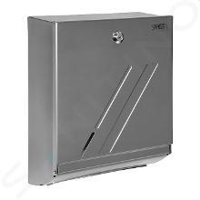 Sanela Complementi in acciaio inox - Dispenser di asciugamani di carta, acciaio inox opaco SLZN 20