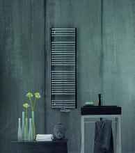 Zehnder Aura - Kúpeľňový radiátor 775x595 mm, prehnutý, stredové pripojenie 50 mm, chróm PBTCZ-080-060-05