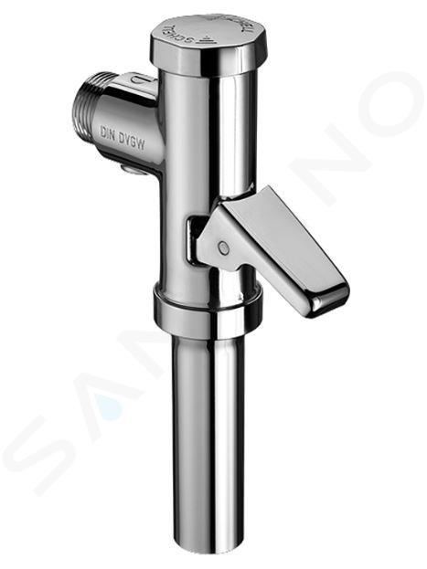 Schell Schellomat - Tlakový splachovač WC s páčkou, chróm 022380699
