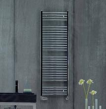 Zehnder Aura - Kúpeľňový radiátor 1217x500 mm, rovný, vonkajšie pripojenie, chróm PBCZ-120-050