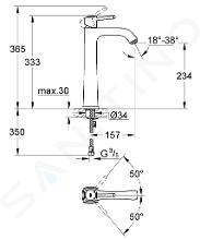 Grohe Grandera - Baterie pro umyvadlovou mísu, chrom/zlatá 23313IG0