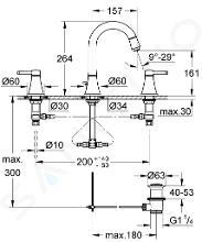 Grohe Grandera - Tříotvorová umyvadlová baterie, chrom/zlato 20389IG0