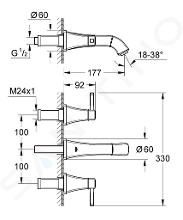 Grohe Grandera - Tříotvorová umyvadlová baterie, chrom 20414000