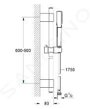 Grohe Grandera - Set soffione a una utenza, supporto con tubo flessibile, cromato 26038000