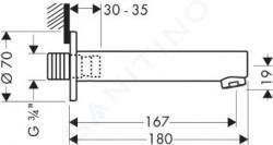 Axor Steel - Vanový výtok, nerezová ocel 35412800