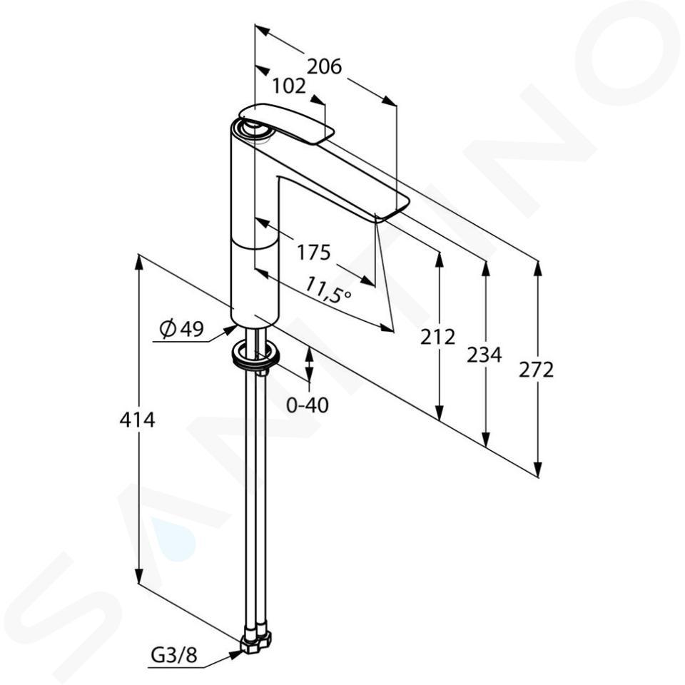 Kludi Balance - Waschtisch Einhebelmischer, weiß / chrom 522969175
