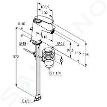 Kludi Balance - Miscelatore monocomando per bidet, bianco/cromato 522169175