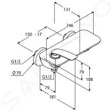 Kludi Balance - Miscelatore doccia monocomando, bianco/cromato 527109175