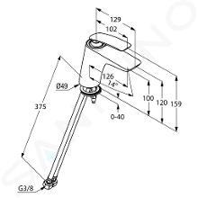 Kludi Balance - Waschtisch Einhebelmischer, weiß / chrom 520269175