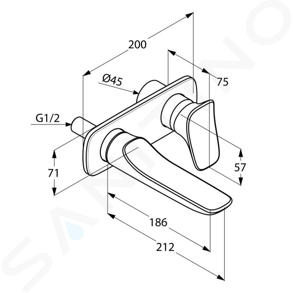Kludi Amba - Mitigeur de lavabo encastré, installation 2 trous, chrome 532440575