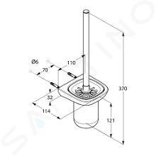 Kludi Amba - Ensemble pour entretien des toilettes, chrome 5397405