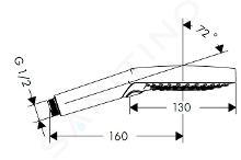 Hansgrohe Raindance Select S - Douchette 120, 3 jets, EcoSmart, chrome 26531000