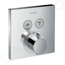 Hansgrohe Shower Select - Thermostaat mengkraan met stopkraan voor 2 functies, chroom 15763000
