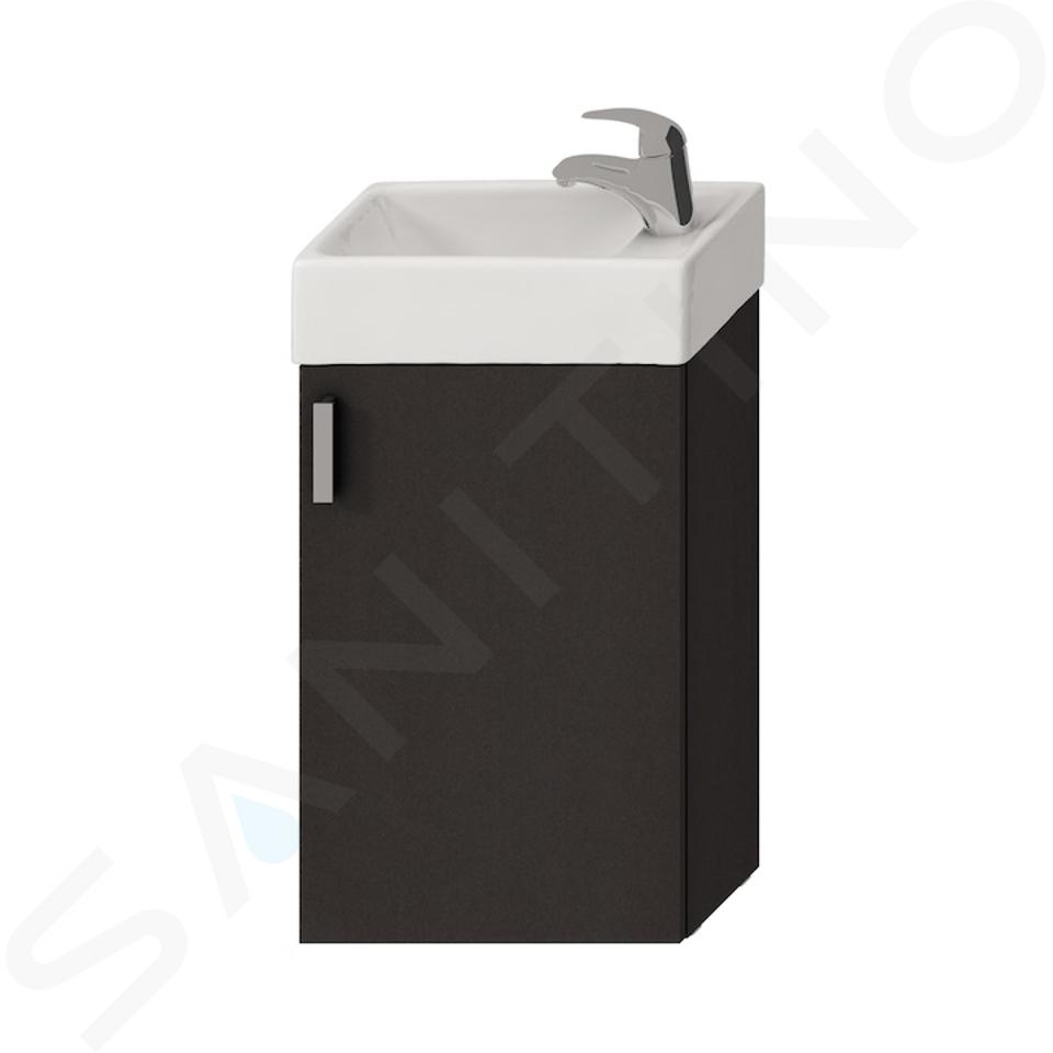 Jika Petit - Skříňka s umývátkem, 386x221x585 mm, šedá H4535111753011