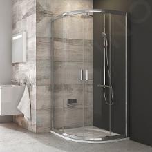 Ravak Blix - Čtvrtkruhový sprchový kout čtyřdílný BLCP4-80, 780-800 mm, lesklý hliník/čiré sklo 3B240C00Z1