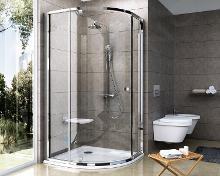 Ravak Pivot - Čtvrtkruhový sprchový kout PSKK3-80, 770-795 mm, satin/čiré sklo 37644U00Z1
