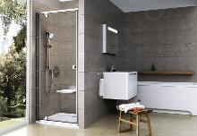 Ravak Pivot - Sprchové dveře PDOP1-90, 861-911 mm, satin/čiré sklo 03G70U00Z1