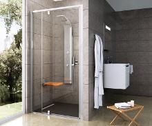 Ravak Pivot - Sprchové dveře PDOP2-120, 1161-1211 mm, satin/čiré sklo 03GG0U00Z1