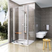 Ravak Pivot - Sprchová stena pevná PPS-80, 770mm – 795 mm – farba satin, sklo transparent 90G40U00Z1