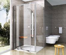 Ravak Pivot - Sprchová stěna PPS-90, 870-895 mm, satin/čiré sklo 90G70U00Z1