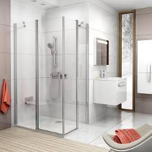 Ravak Chrome - Sprchové dvere CRV2-90, 880-900 mm, lesklý hliník/číre sklo 1QV70C00Z1