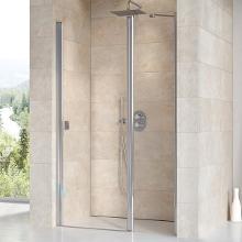 Ravak Chrome - Sprchové dvere dvojdielne CSD2-110, 1075mm – 1105 mm – farba lesklý hliník, sklo transparent 0QVDCC00Z1