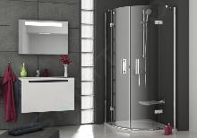 Ravak SmartLine - Štvrťkruhový sprchovací kút SMSKK4-80, šírka 785mm – 800 mm, rádius 500 mm, farba chróm, sklo transparent 3S244A00Y1