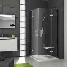 Ravak SmartLine - Rohový sprchovací kút SMSRV4-80, 785mm – 800 mm, farba chróm, sklo transparent 1SV44A00Z1