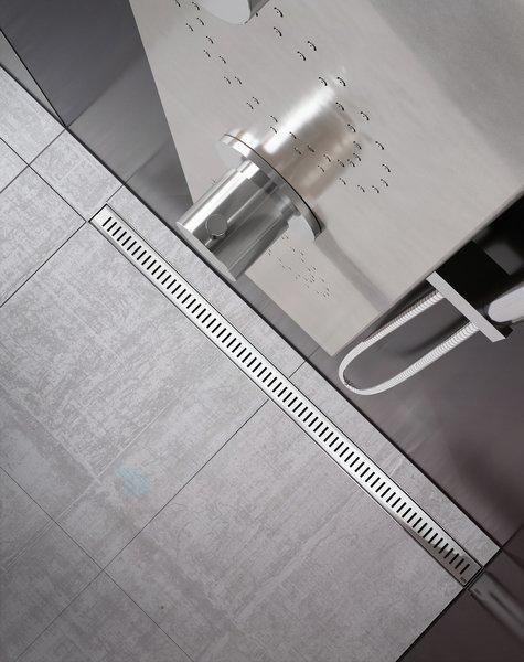 Ravak Zebra - Odtokový sprchový žľab s nerezovým roštom, 850 mm X01434